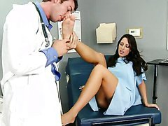 Kortney Kane Giving a Footjob To the..