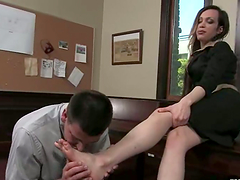 Office sex with a smoking hot shemale..