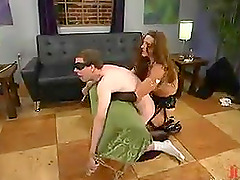 Crazy Femdom Action with Pegging for..