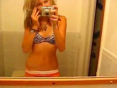 Teen filming herself stripping