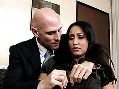 Brunette Secretary Isis Love Gets..