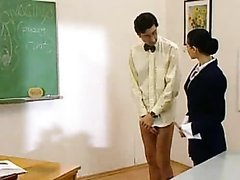Sexy Brunette Teacher Gets Fucked By..
