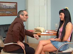 Olesya Tries To Charm Her Teacher Into..