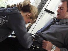 Sporty Blonde MILF Jessica Drake Rides..