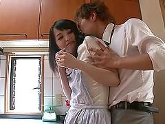 Lovely teen Nozomi Aiuchi dick riding..