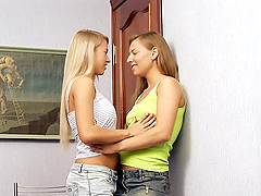 Beautiful blond teens with hot tits..