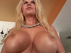 Big titty milf seduces and fucks this young dude