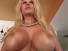 Big titty milf seduces and fucks this..