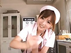 POV Handjob By a Cute Asian Nurse