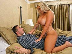 Hot Blonde MILF with Big Tits Fucks..