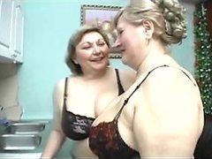 Mature Blonde Lesbians Eat and Finger..