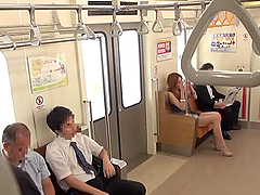 Cute Japanese girl gives a public..