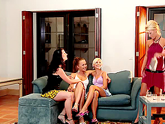 Amazing and hot lesbian foursome in..