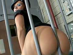 Behind Bars Threesome With A Hot Prison Officer
