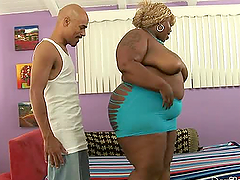 Fat Black babe getting fucked hard and..