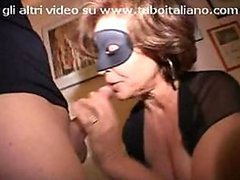 Masked Italian Mature Sucks and Fucks..