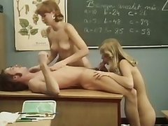 Retro Threesome Sex With a Teacher and..