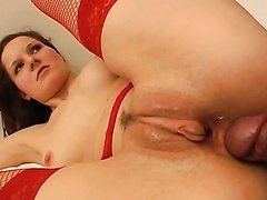 Redhead Anal Whore Gets Fucked and Facialized By a Surgeon
