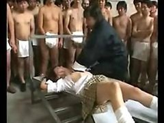Asian Gets Bukkake & Creampie By..