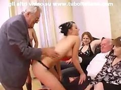 Italian Teens Giving a Sexy Lesbian Show For Their Grannies
