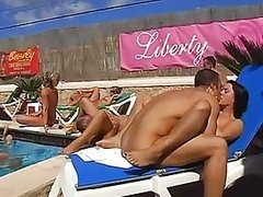 Massive Outdoor Voyeur Orgy in Ibiza