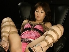 Tied Up Asian Gets Toyed in BDSM Vid