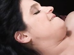 Hot Chubby Brunette Drilled By a Big Black Cock
