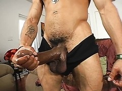 Castro loves Wanking his Monster Cock