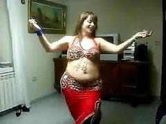BBW Arab MILF Belly Dancing in a..