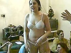 Playful Arab Teens Belly Dancing In..