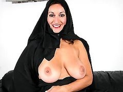 Extremely Hot Arab MILF Sucks and..
