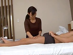 Tug Job From Japanese Housewife.