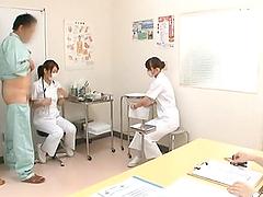 Japanese Nurses Give Great Handjobs In..