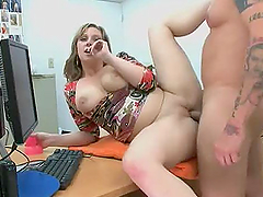 Salacious boss fucks a hot mature..