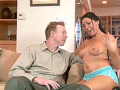 Married Couple Fucking The Babysitter.