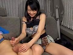 Skinny Japanese Slut Gives a Sexy..