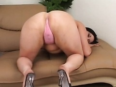 Brunette MILF Slides A Fat Cock Between Her Huge Boobs
