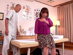 Masseuse Massages Busty Rin Aoki..