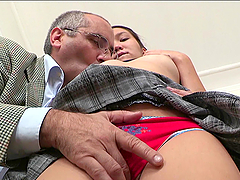 Asian Teen's Sucks And Fucks Her Horny Old Teacher