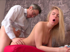Horny Old Teacher Fucks A Smoking Hot..