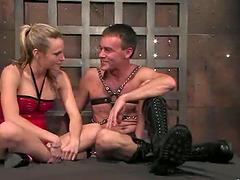 Blonde Harmony humiliates Wild Bill..
