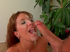 Sexy milf Felicia Fox milks Peter..