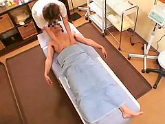Small Tit Japanese Masseur Gets Fucked..