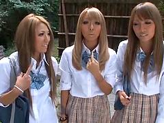 Three amazing Japanese college girls..