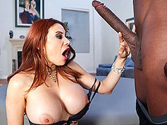 Voluptuous Redhead Babe Sucks and..