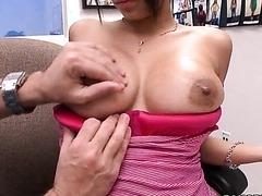 Jamie Valentine Oils Up her Enormous..