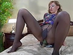 Anal Masturbation With the Hot Rosa While She Wears Pantyhose