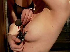 Horny Cherry Torn gets wired and toyed..