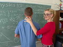 Anal Fucking The Hot Blonde Teacher..