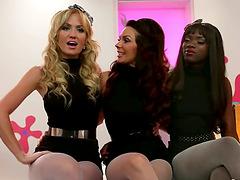 Interracial Lesbian Threesome wtih..